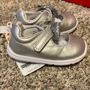 Sliver infant shoes